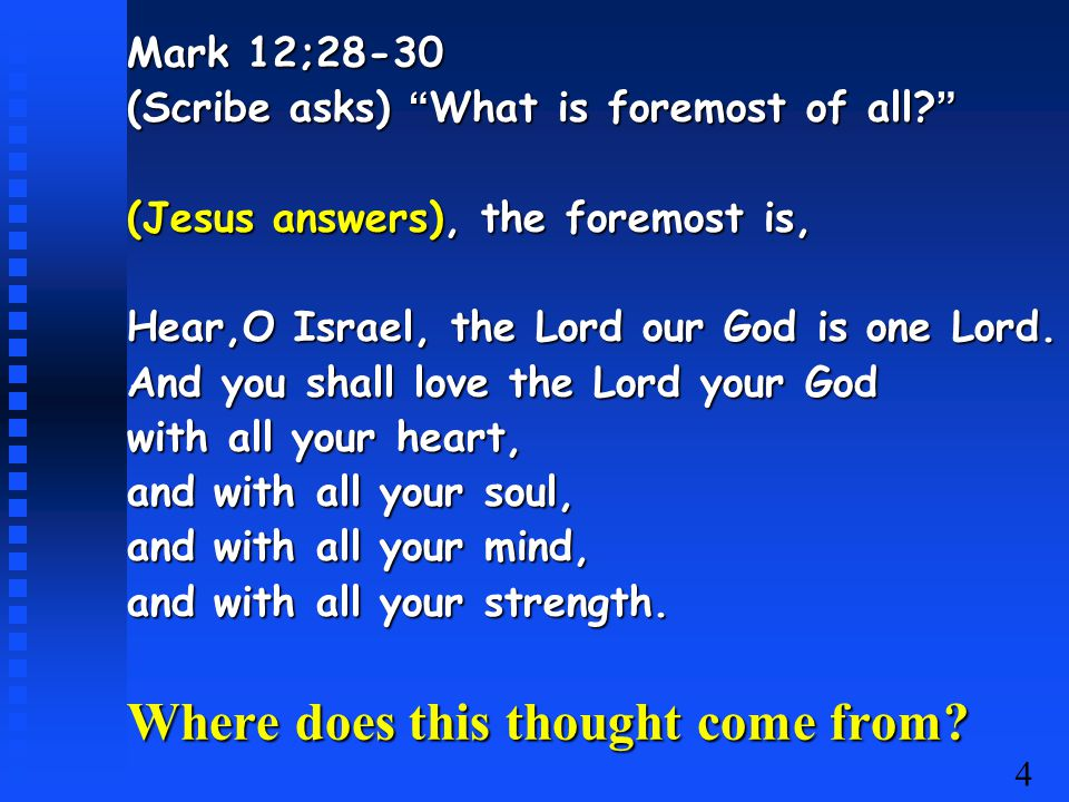 5 Duet: 6:4-8.Hear, O ____ The ___ our ___, the Lord is ___.