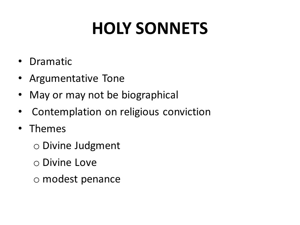 HOLY SONNET 5 I am a little world made cunningly Religious Duality of Sin & Purity