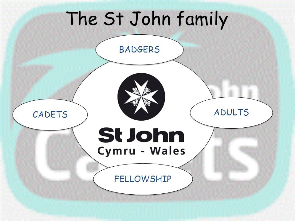 The St John family BADGERS ADULTS FELLOWSHIP CADETS