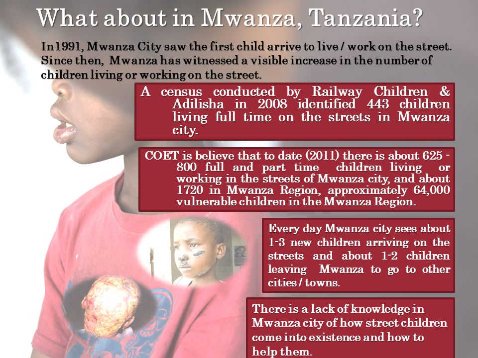 What about in Mwanza, Tanzania.