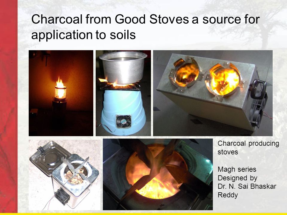 Charcoal from Good Stoves a source for application to soils Charcoal producing stoves Magh series Designed by Dr.