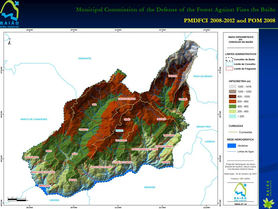 Municipal Commission of the Defense of the Forest Against Fires the Baião PMDFCI 2008-2012 and POM 2008