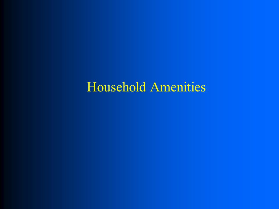 Household Amenities