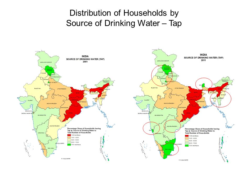 Distribution of Households by Source of Drinking Water – Tap