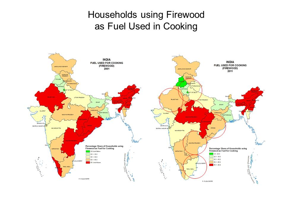 Households using Firewood as Fuel Used in Cooking