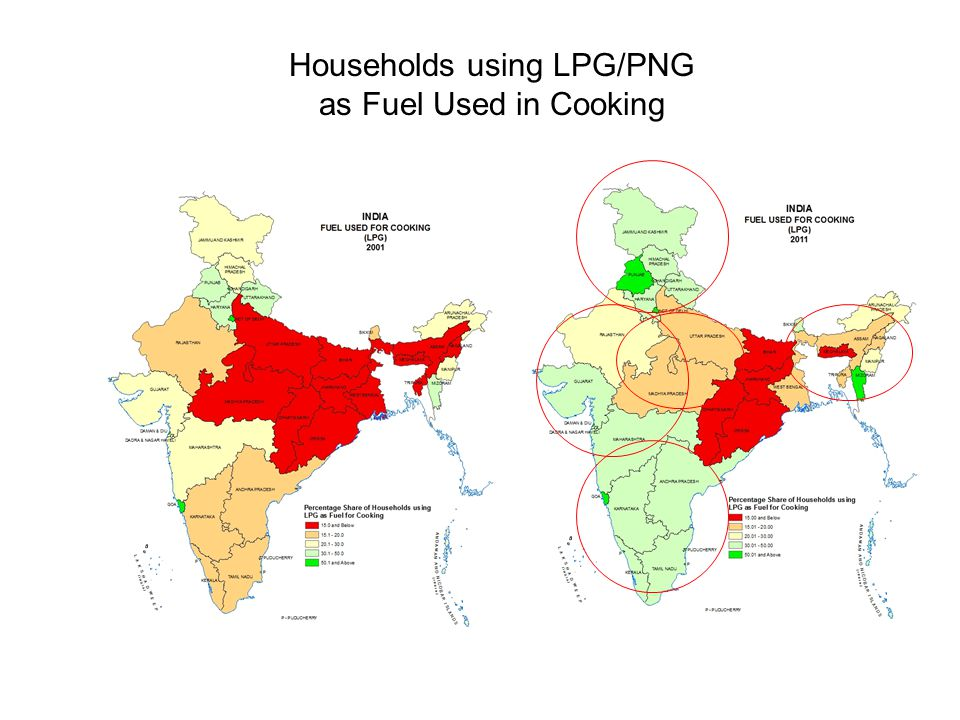 Households using LPG/PNG as Fuel Used in Cooking