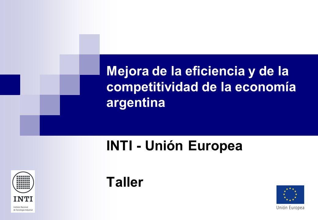 Mejora de la eficiencia y de la competitividad de la economía argentina INTI - Unión Europea Taller