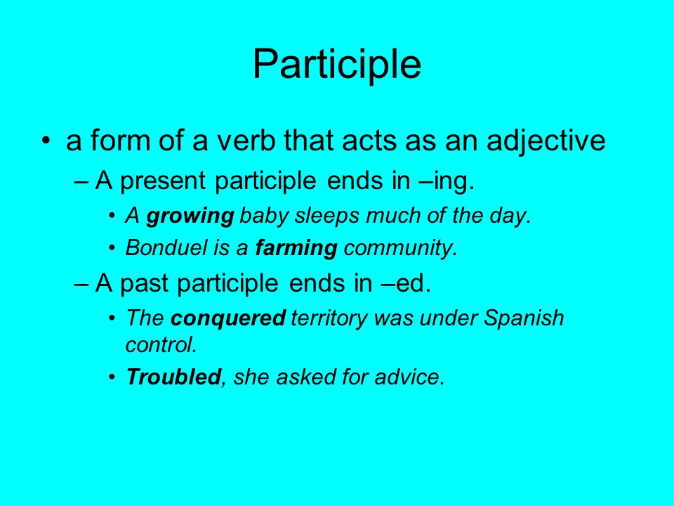 A participial phrase can appear before or after the word it describes.