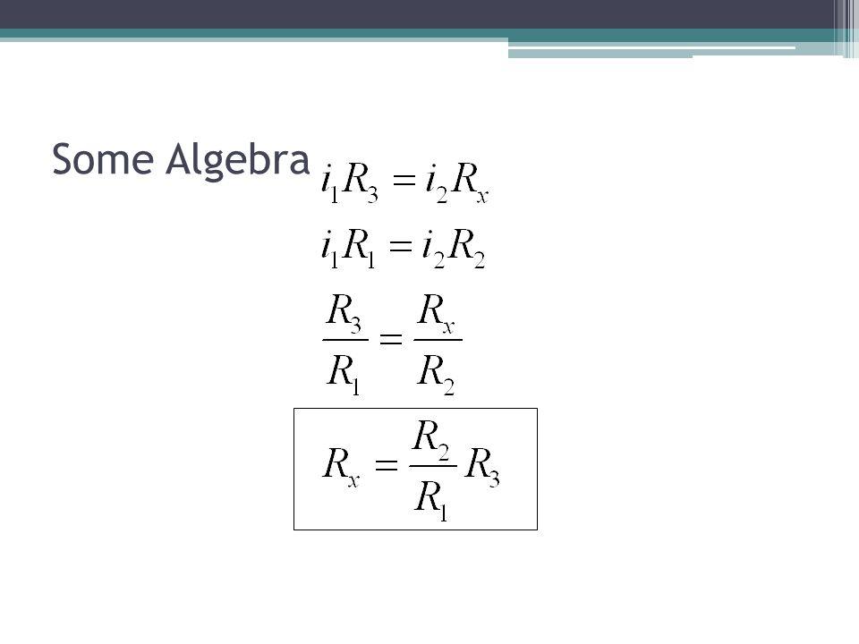 Some Algebra