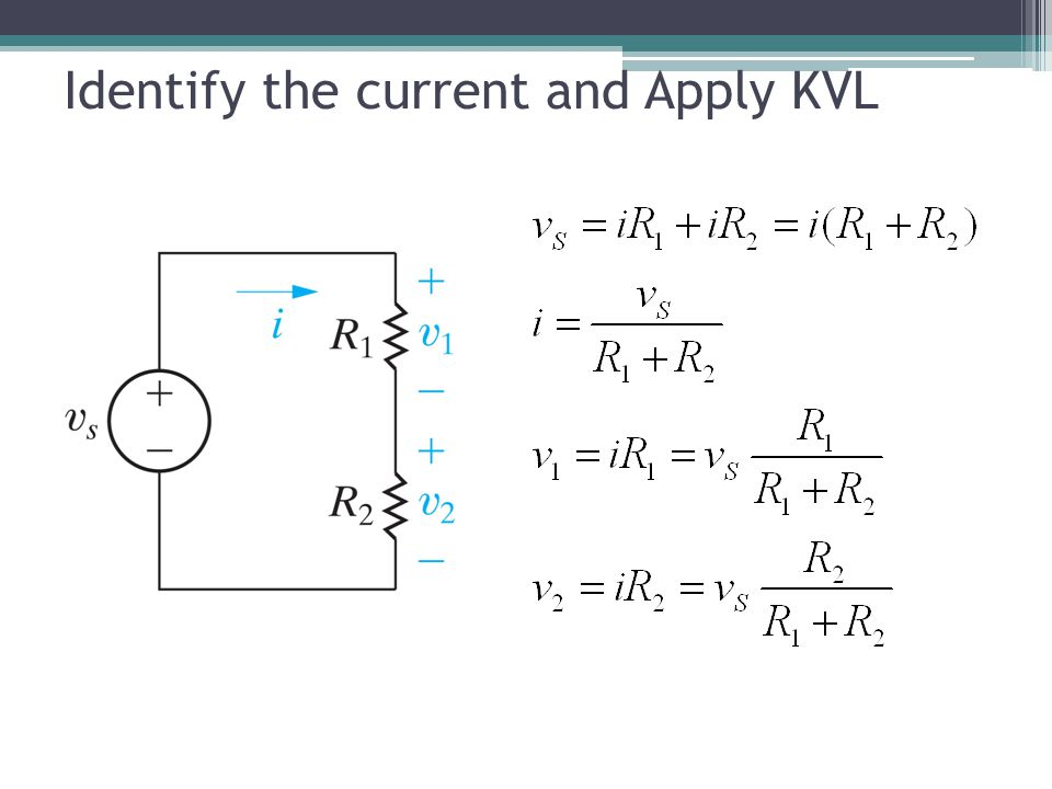 Identify the current and Apply KVL