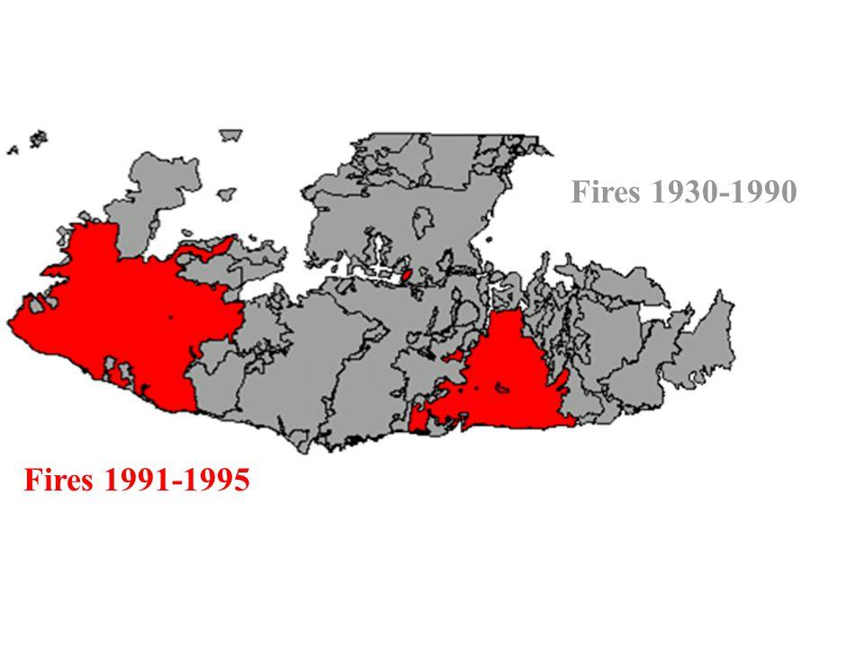 Fires 1991-1995 Fires 1930-1990