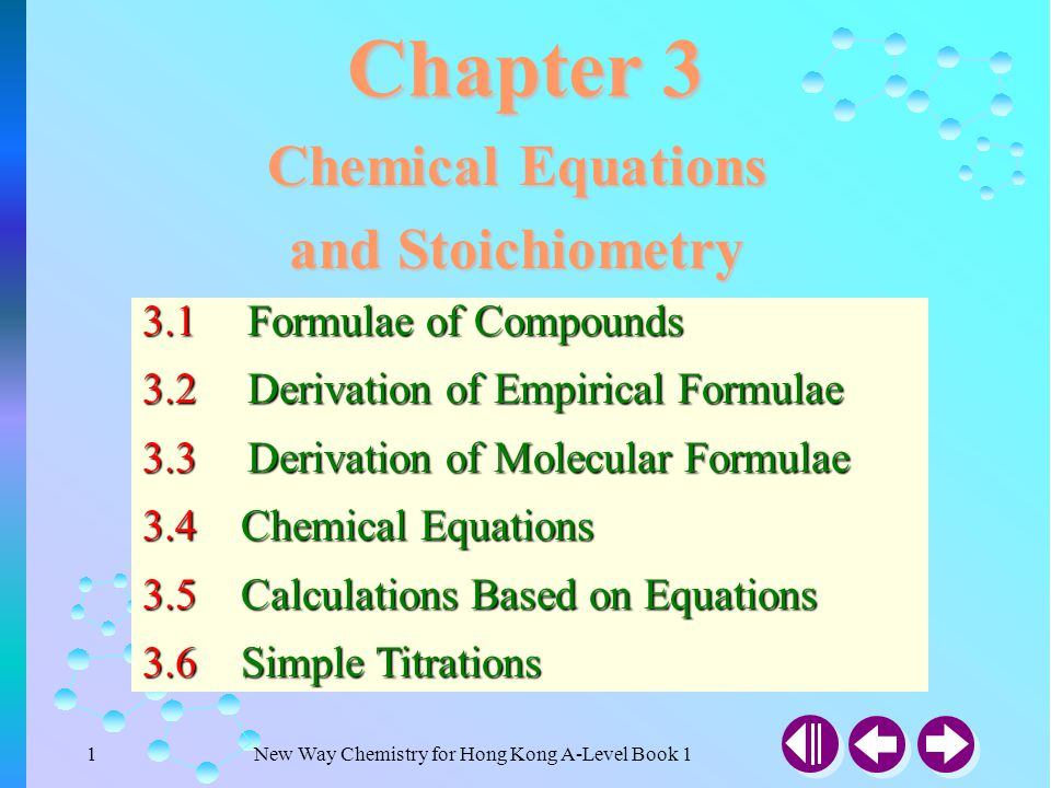 New Way Chemistry for Hong Kong A-Level Book 141 Answer 3.5 Calculations Based on Equations (SB p.66) Example 3-12 Calculate the volume of carbon dioxide formed when 20 cm 3 of ethane and 70 cm 3 of oxygen are exploded, assuming all volumes are measured at room temperature and pressure.