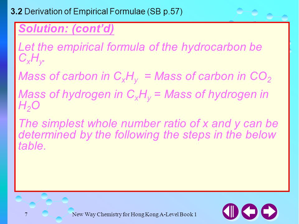 New Way Chemistry for Hong Kong A-Level Book 177 Answer Example 3-16 0.186g of sample of hydrate sodium carbonate, NaCO 2 ·nH 2 O, was dissolved in 100 cm 3 of distilled water in conical flask.