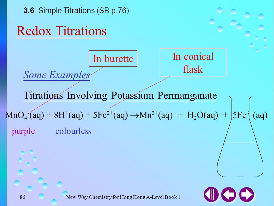 New Way Chemistry for Hong Kong A-Level Book 185 Answer Example 3-18 When excess potassium iodide solution (KI) is added to 25.0 cm 3 of acidified pot