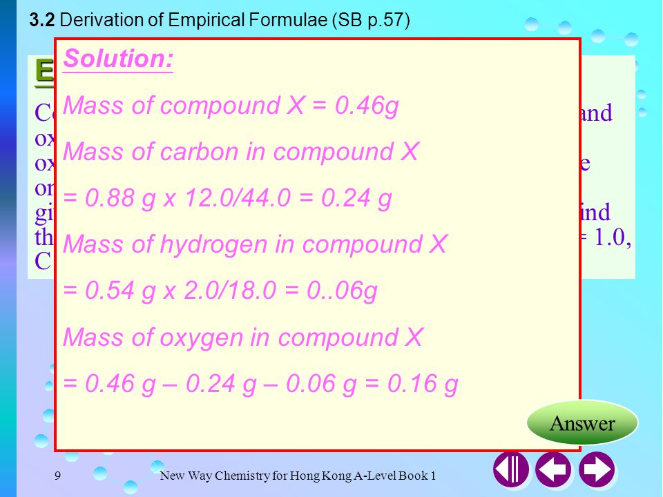 New Way Chemistry for Hong Kong A-Level Book 119 What is Molecular Formulae.