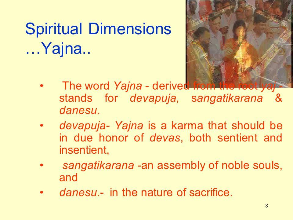 8 Spiritual Dimensions …Yajna..
