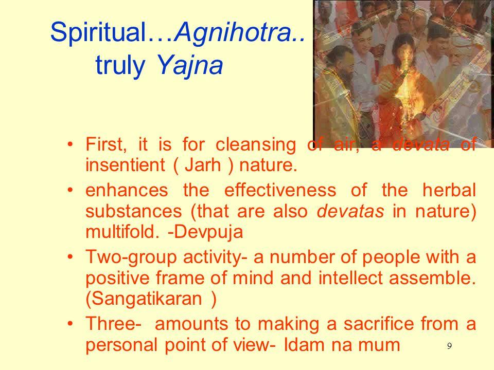 9 Spiritual…Agnihotra..