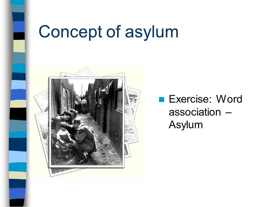 Concept of asylum Exercise: Word association – Asylum
