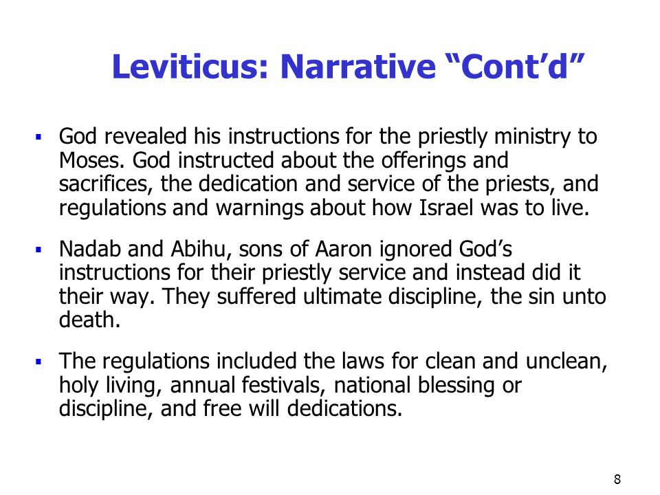 19 Leviticus Chapter 16 Day of Atonement Chapter 16: Day of Atonement Only time of year when High Priest allowed in Holy of Holies High Priest offered bull as a sin offering for himself and his household Blood from goat--purged sanctuary of defilement from transgressions; altar atoned for with blood from bull and goat Goat for Azazel--sins of people carried away