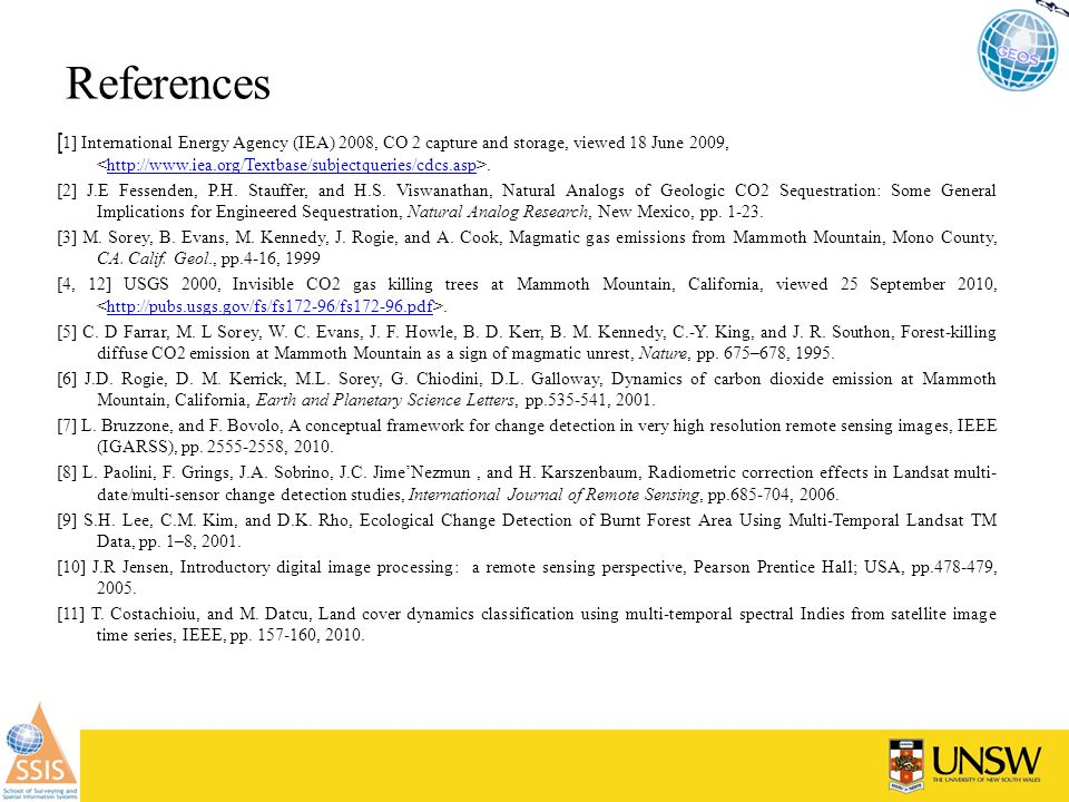 References [ 1] International Energy Agency (IEA) 2008, CO 2 capture and storage, viewed 18 June 2009,.http://www.iea.org/Textbase/subjectqueries/cdcs.asp [2] J.E Fessenden, P.H.