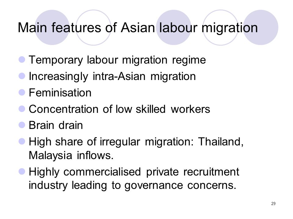 30 ASEAN Declaration on the Protection and Promotion of the Rights of Migrant Workers - Significance Emphasis on protection and promotion of rights – accords well with MLF Obligations on sending states, receiving states and ASEAN Recognises the contributions of migrant workers to the society and economy of both receiving states and sending states Intensify efforts to protect the fundamental human rights, promote the welfare and uphold human dignity of migrant workers; ASEAN: Promote decent, humane, productive, dignified and remunerative employment for migrant workers; develop an ASEAN instrument on the protection and promotion of the rights of migrant workers.