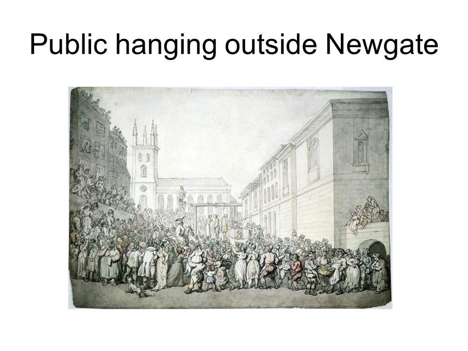 Public hanging outside Newgate