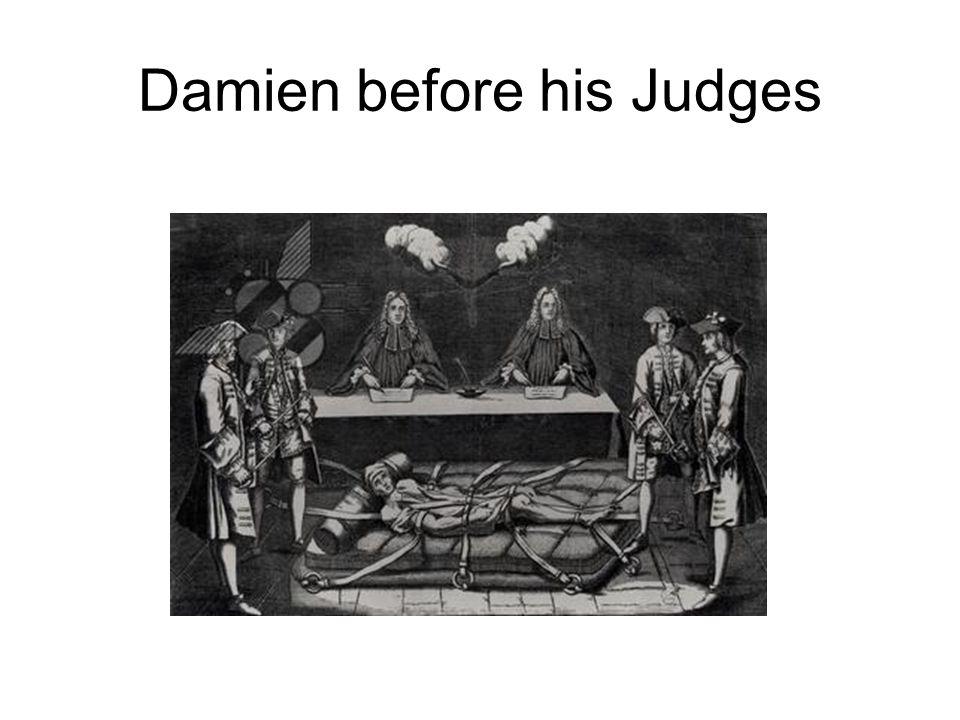 Damien before his Judges