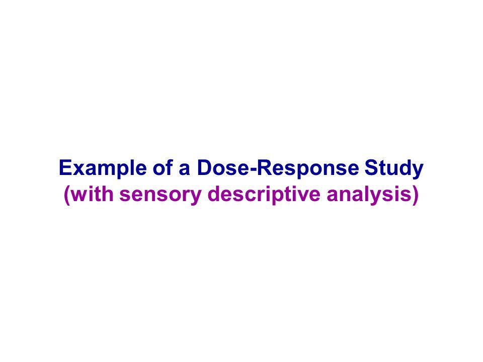 Example of a Dose-Response Study (with sensory descriptive analysis)