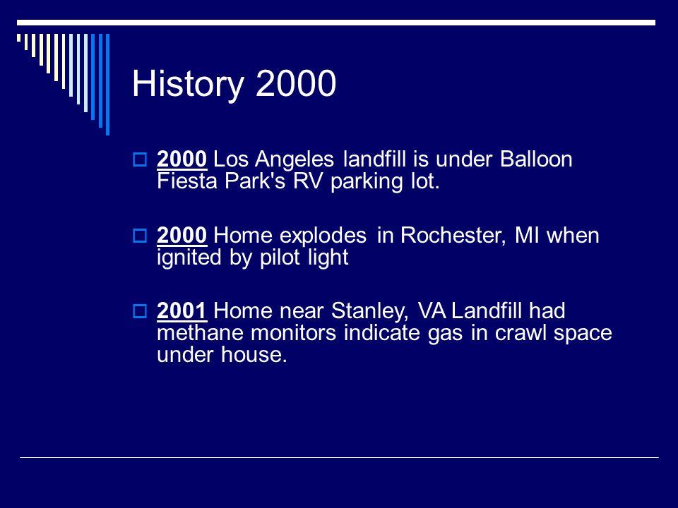 History 2000  2000 Los Angeles landfill is under Balloon Fiesta Park s RV parking lot.