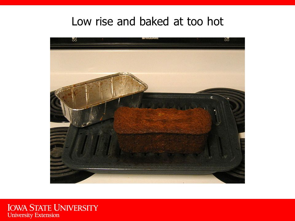Low rise and baked at too hot