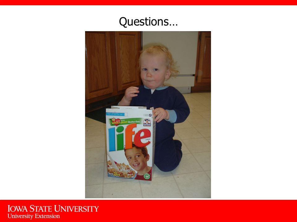Questions…