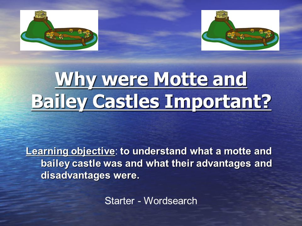 The Normans built the first proper castles in England.