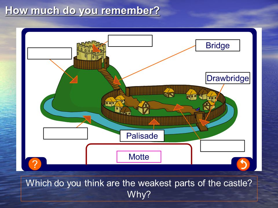 What would you do in William's position.Why the motte and bailey.