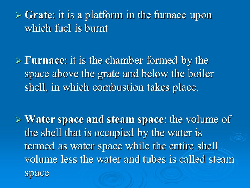   Air entering through the holes in the grate comes in contact with the raw coal   Then it passes through the incandescent coke where reactions similar to overfeed system takes place   The gases produced then pass through a layer of ash   The secondary air is supplied to burn combustible gases   The underfeed principle is suitable for burning the semi-bituminous and bituminous coal