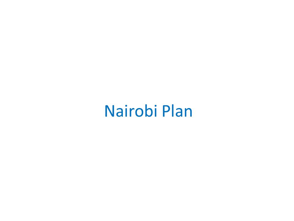 Nairobi Plan