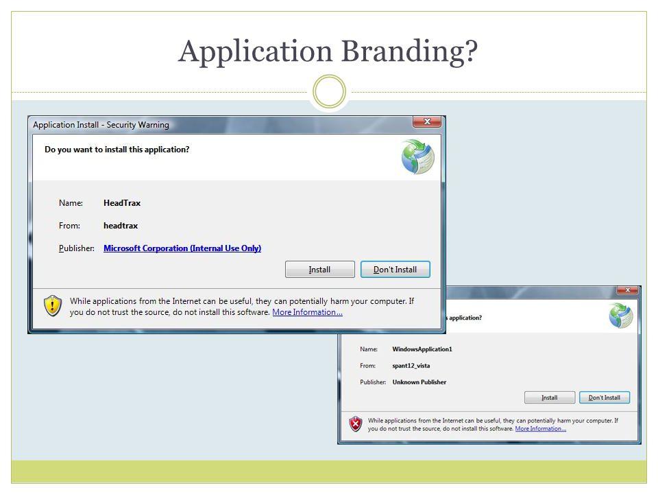 Application Branding
