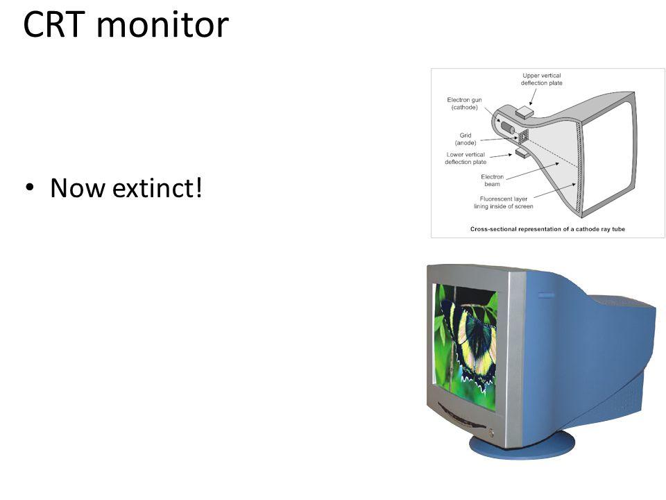 CRT monitor Now extinct!