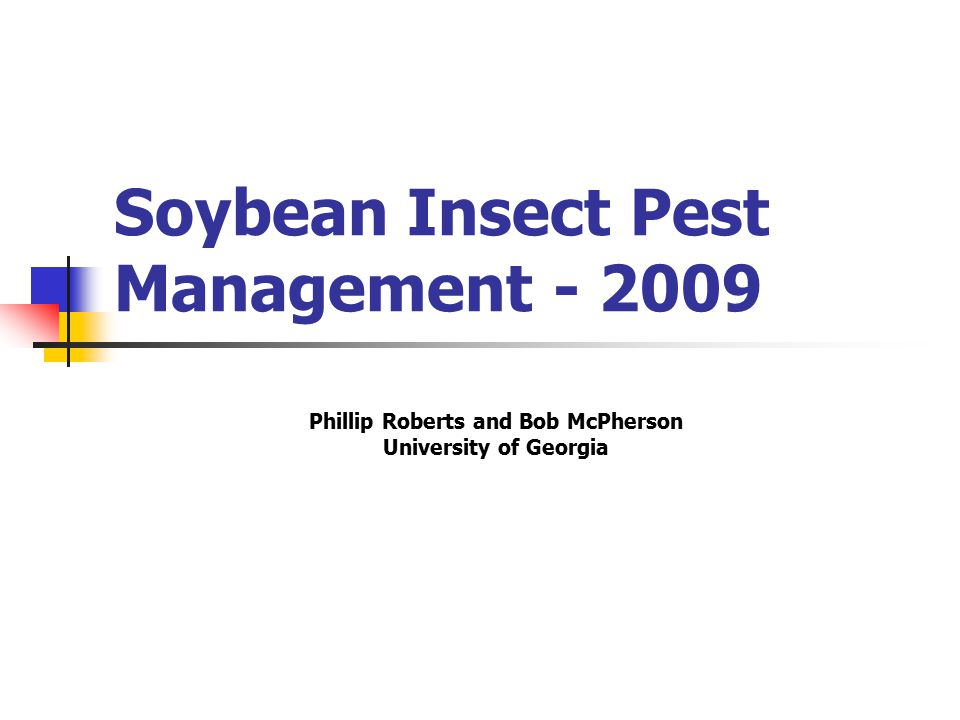 Soybean IPM Scouts / Consultants Offers great value to growers.