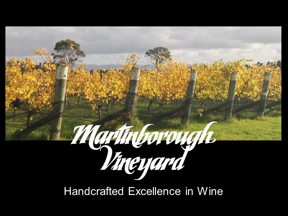 CORE MESSAGE Established in 1980, Martinborough Vineyard is an icon in New Zealand winemaking history.