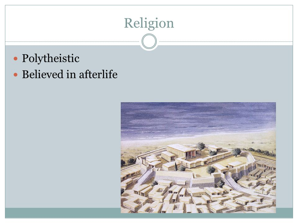 Religion Polytheistic Believed in afterlife