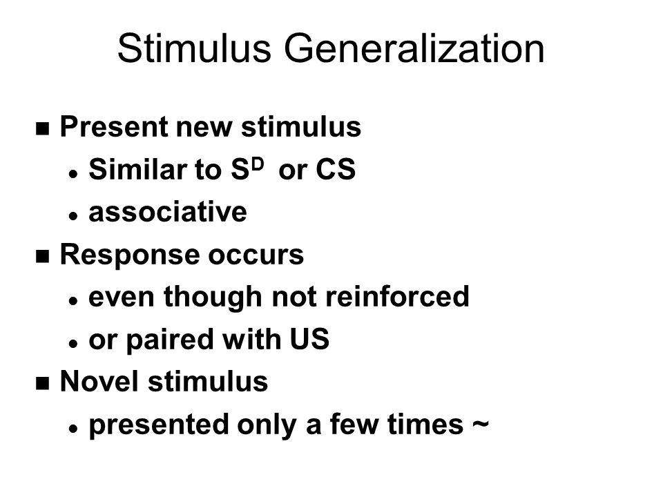 Stimulus Generalization Gradient Shades of Blue SDSD Strength of Response Hi Lo