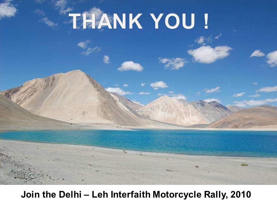 Join the Delhi – Leh Interfaith Motorcycle Rally, 2010