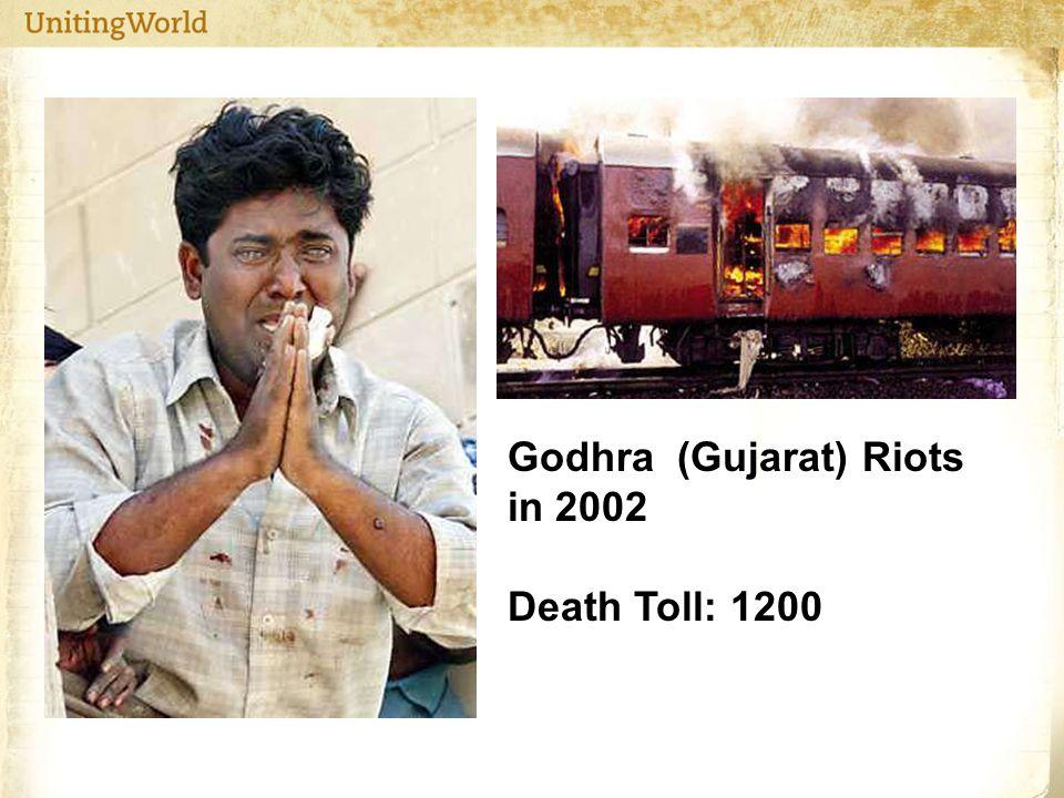Godhra (Gujarat) Riots in 2002 Death Toll: 1200