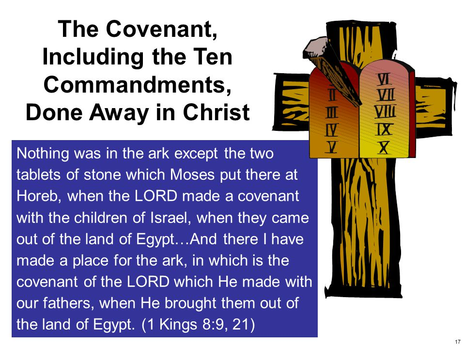 18 So He declared to you His covenant which He commanded you to perform, the Ten Commandments; and He wrote them on two tablets of stone.
