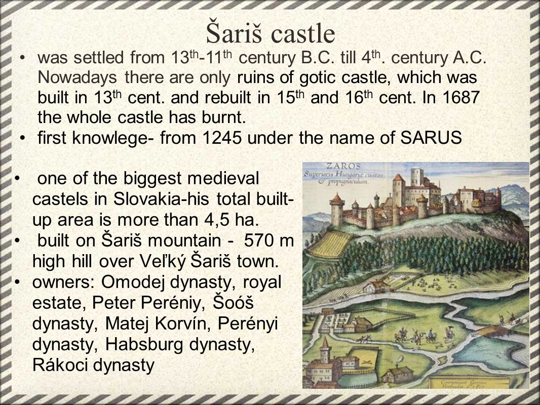 Šarišský castle
