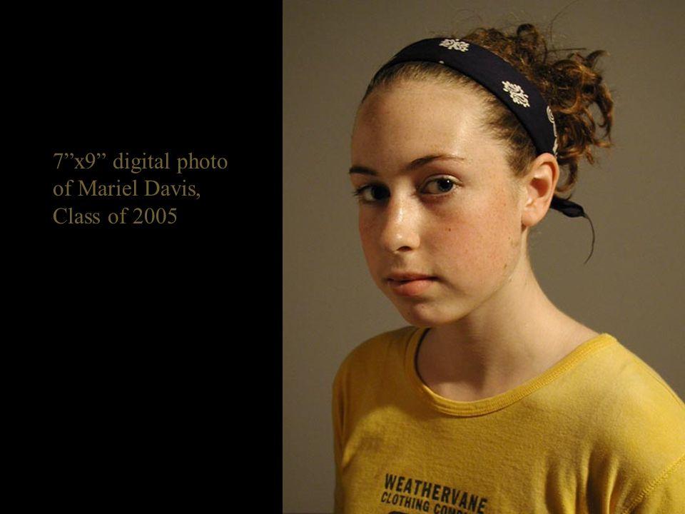 7 x9 digital photo of Mariel Davis, Class of 2005
