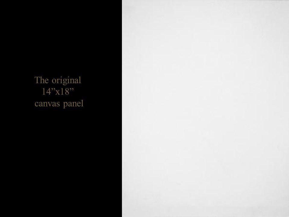 The original 14 x18 canvas panel