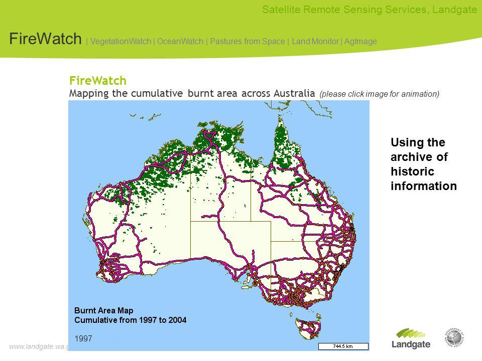www.landgate.wa.gov.au Satellite Remote Sensing Services, Landgate How much data being handled.