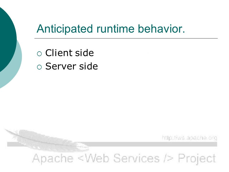 Client side Runtime.