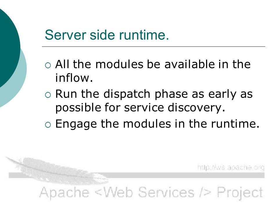 Server side runtime.
